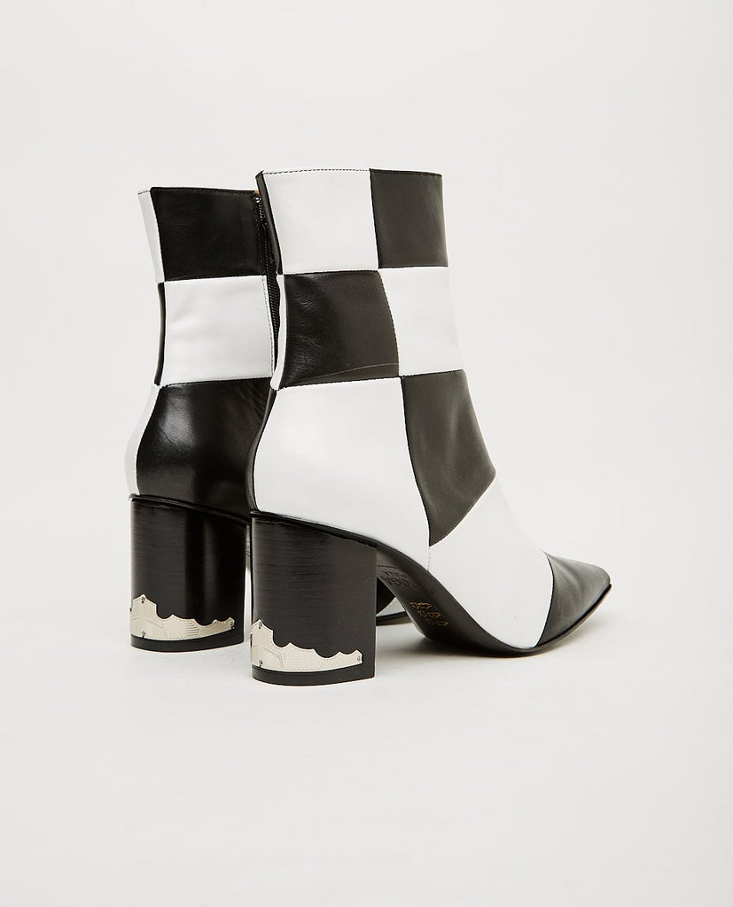 TOGA PULLA-Black And White Check Boot-Women Boots-{option1]
