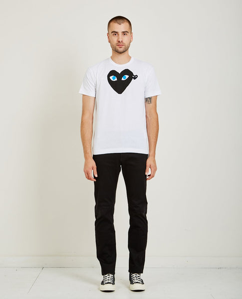 COMME DES GARÇONS PLAY BLACK HEART BLUE EYES PLAY TEE