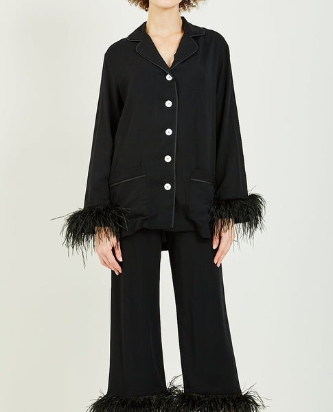 SLEEPER BLACK TIE PJ SET