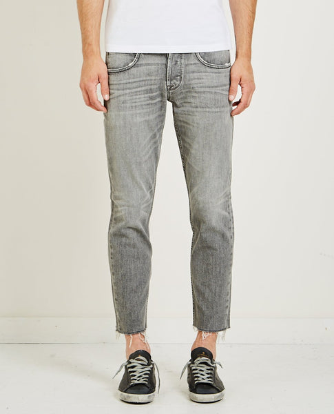 HUDSON BLAKE SLIM STRAIGHT CROPPED JEAN CHROME
