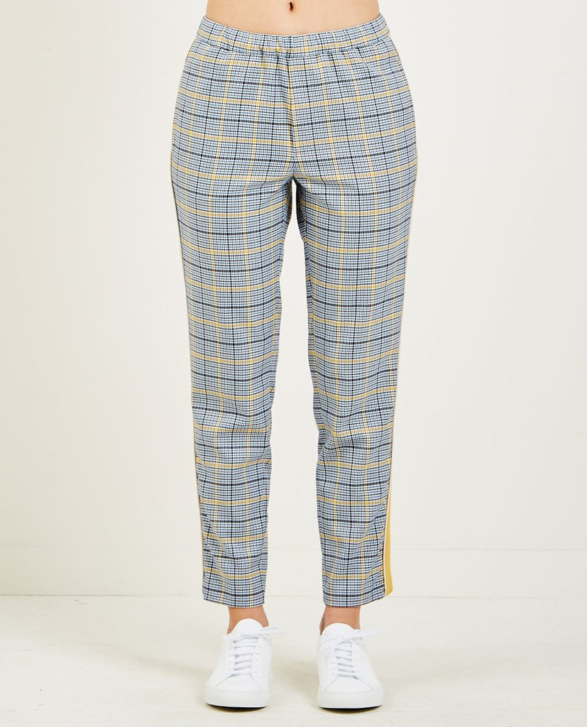 CLOSED-BLANCH PANTS BLUE YELLOW-Women Pants-{option1]