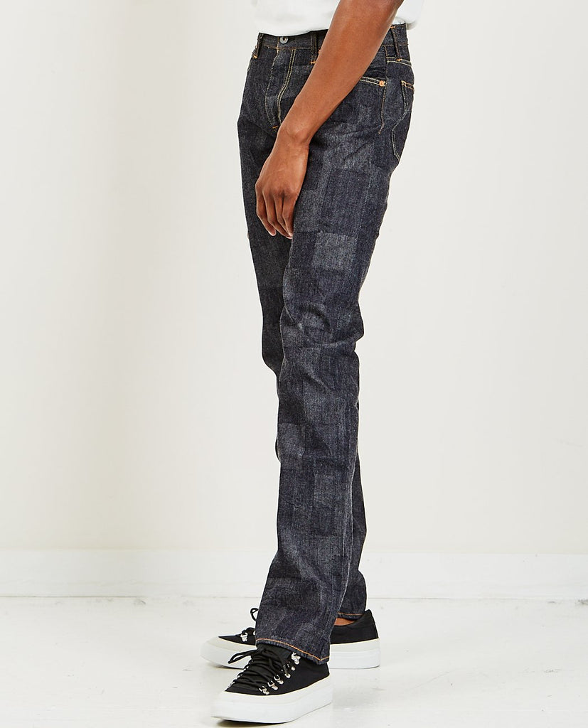 GRAPH ZERO-Block Denim Slim Indigo-Men Slim-{option1]
