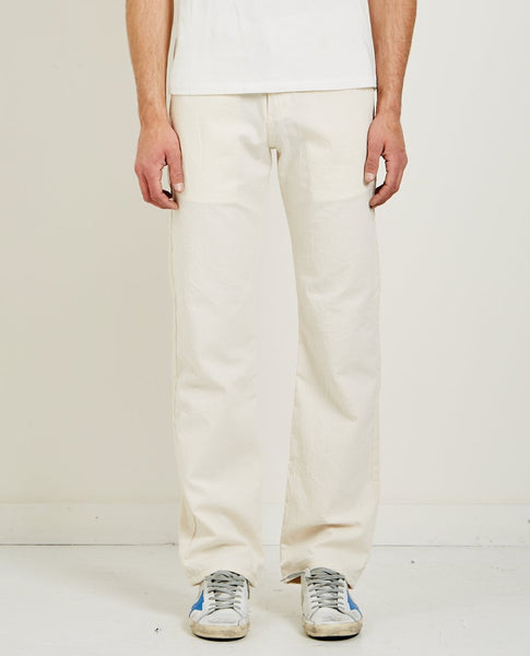 NAKED & FAMOUS BONE HEAVY OXFORD WIDE CHINO