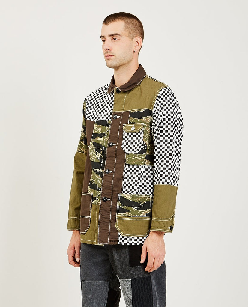 FDMTL-Boro Patchwork Coverall Jacket-Men Coats + Jackets-{option1]