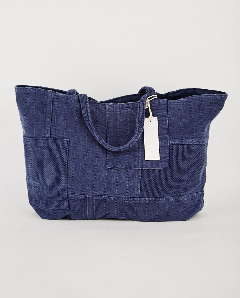 PROSPECTIVE FLOW-BORO TOTE BAG NAVY-Men Bags-{option1]