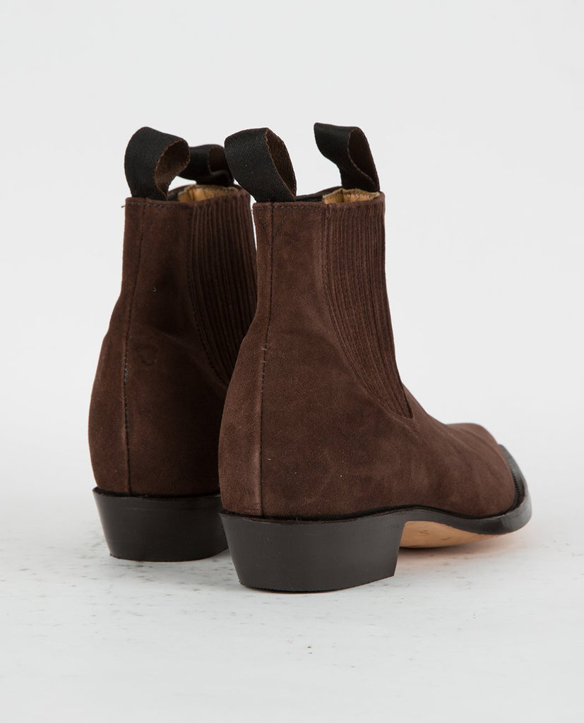 CHAMULA-BOTIN VAQUERO ANTE CAFE-Women Boots-{option1]