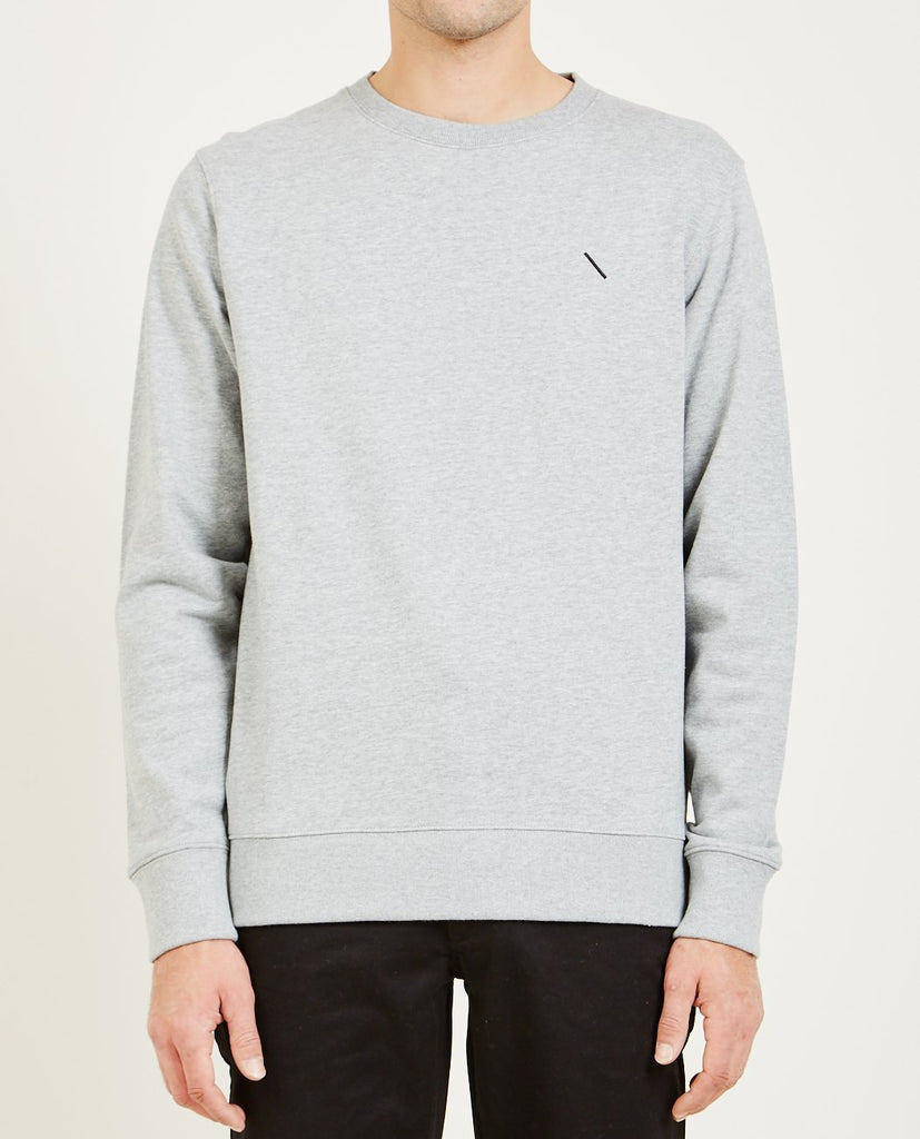 SATURDAYS NYC-BOWERY SLASH EMBROIDERED SWEATSHIRT-Men Sweaters + Sweatshirts-{option1]