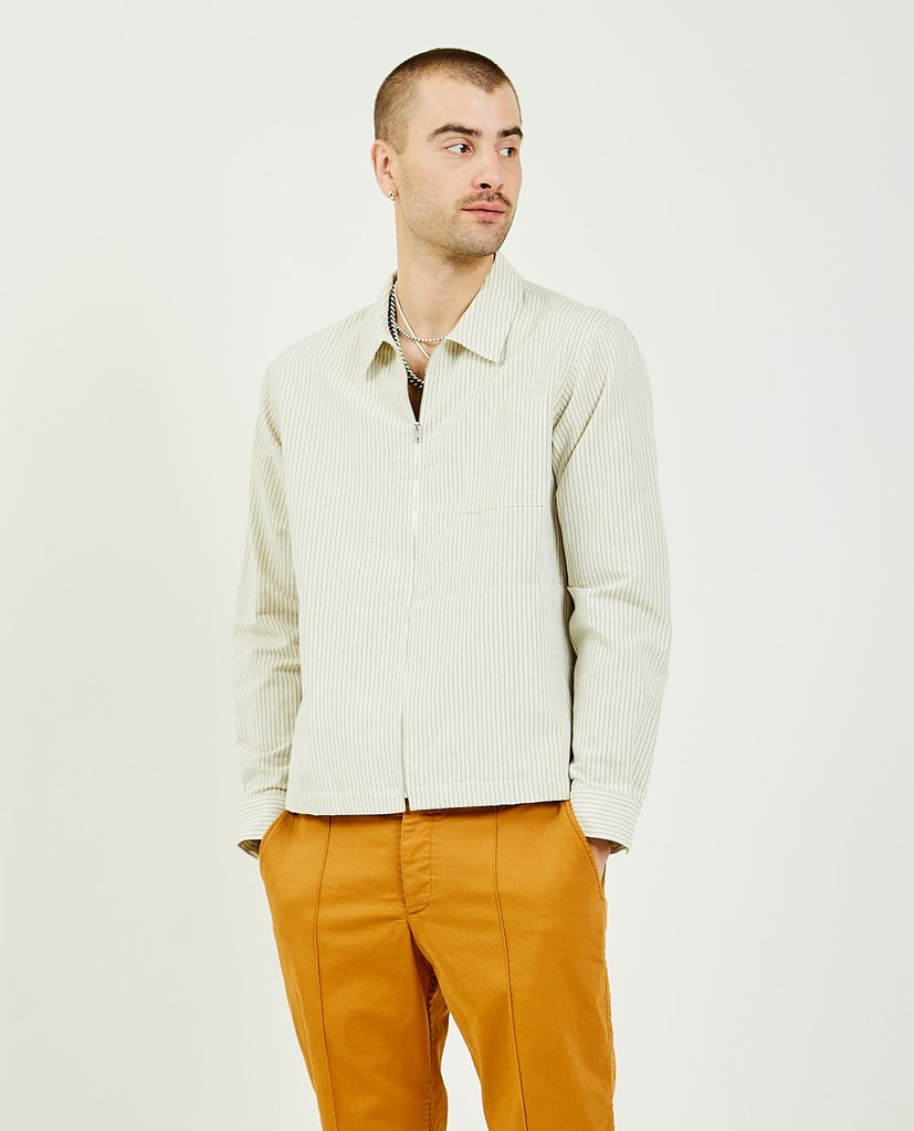 YMC-Bowie Zip Shirt-Men Shirts-{option1]
