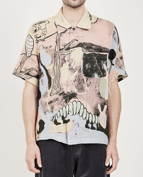 OUR LEGACY BOX SHIRT ACID LANDSCAPE PRINT