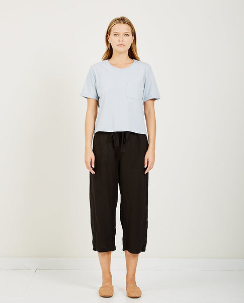 RICHER POORER BOXY CROP TEE BLUE GREY