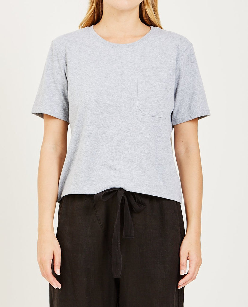 Boxy Crop Tee Grey-RICHER POORER-American Rag Cie