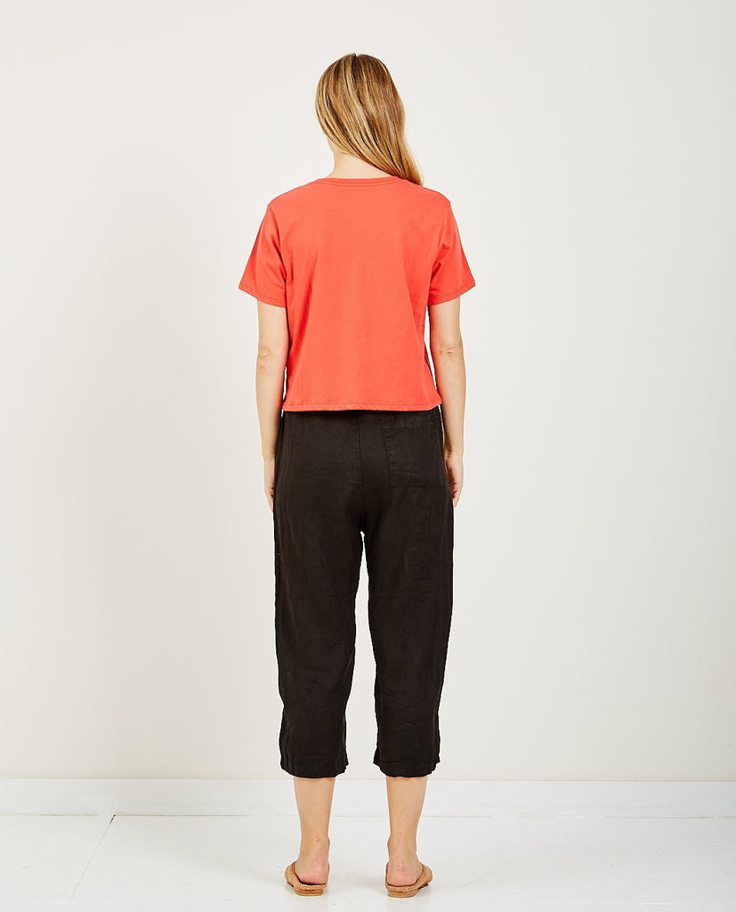 BOXY CROP TEE RED-RICHER POORER-American Rag Cie