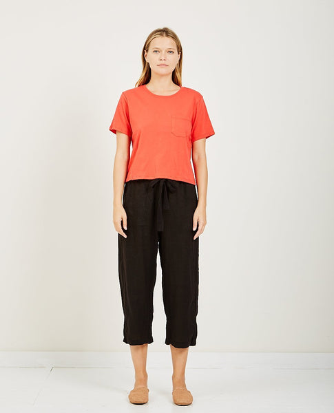 RICHER POORER Boxy Crop Tee Red