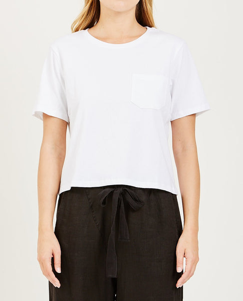 RICHER POORER BOXY CROP TEE WHITE