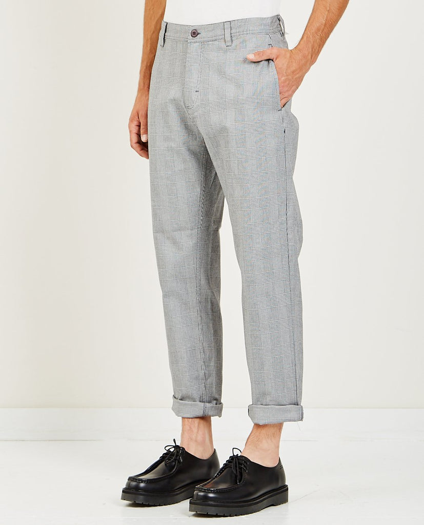 BARNEY COOLS-B.RELAXED CHINO GREY PLAID-Men Pants-{option1]
