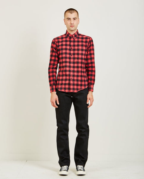 NAKED & FAMOUS BRUSHED BUFFALO CHECK REGULAR SHIRT