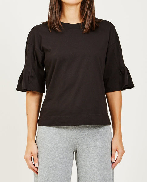 STATESIDE BRUSHED JERSEY PLEAT SLEEVE TOP