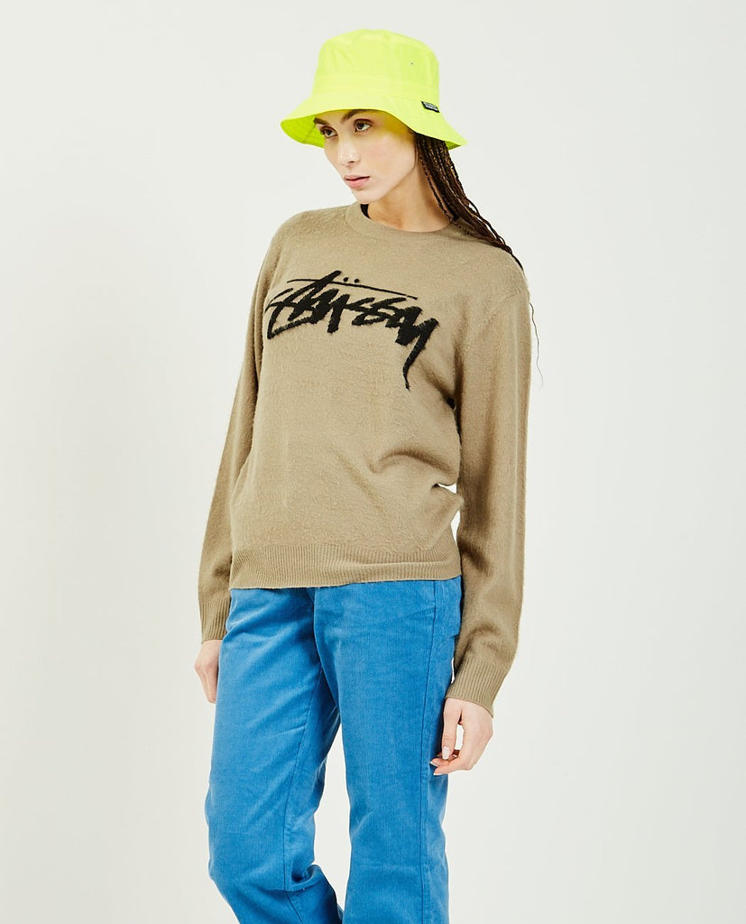 Brushed Out Logo Sweater-STUSSY-American Rag Cie