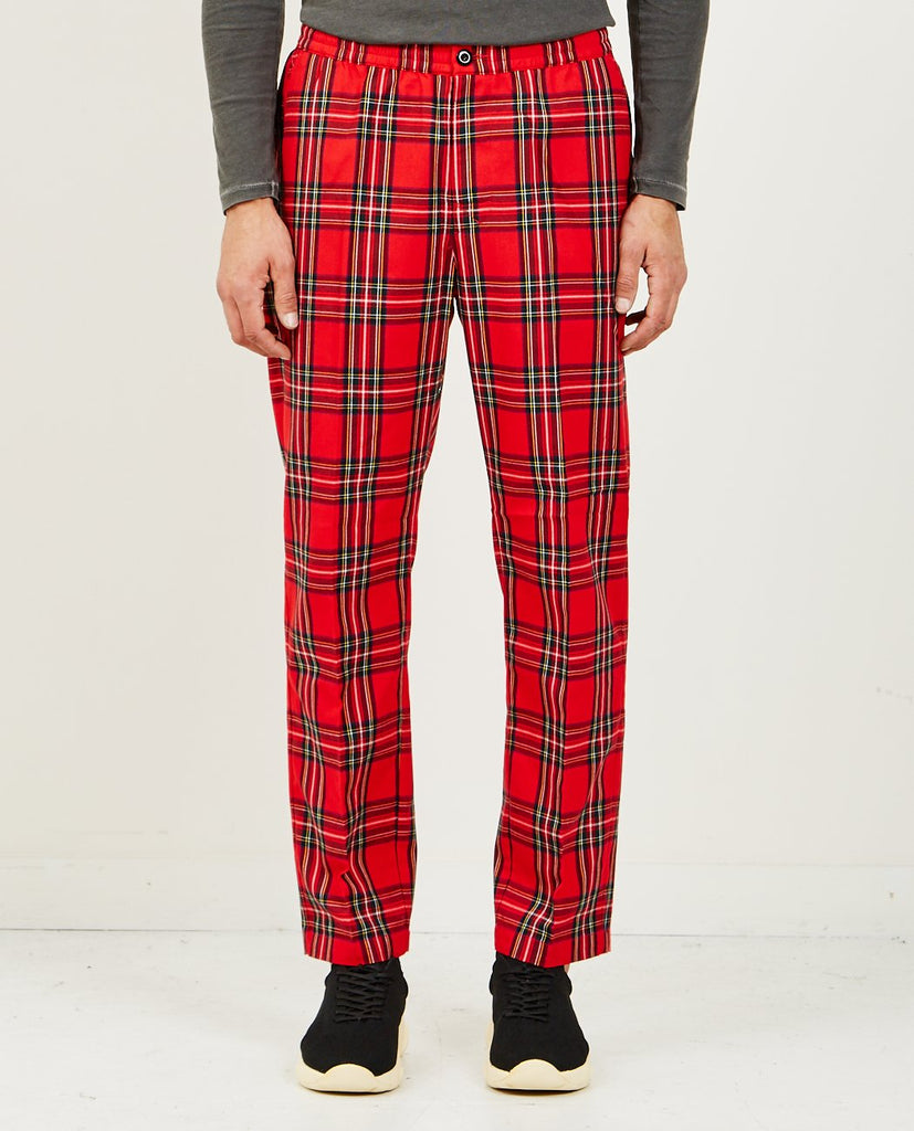 STUSSY-BRYAN PANT RED PLAID-Men Pants-{option1]