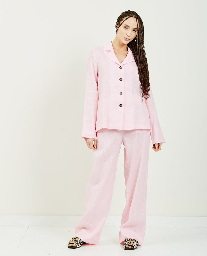 Bubble Gum Linen Pajama Set-SLEEPER-American Rag Cie