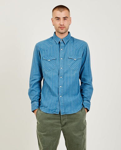 RRL Repaired Jacquard Workshirt