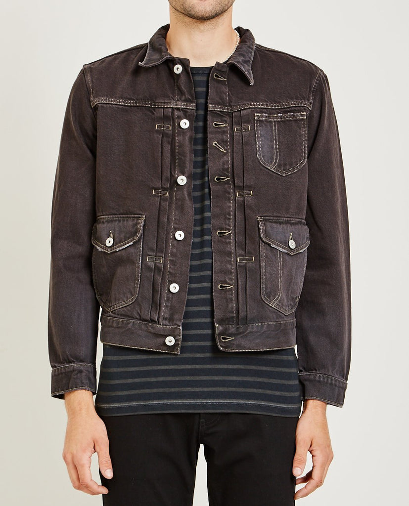 Bull Denim Jacket Charcoal-AR321-American Rag Cie