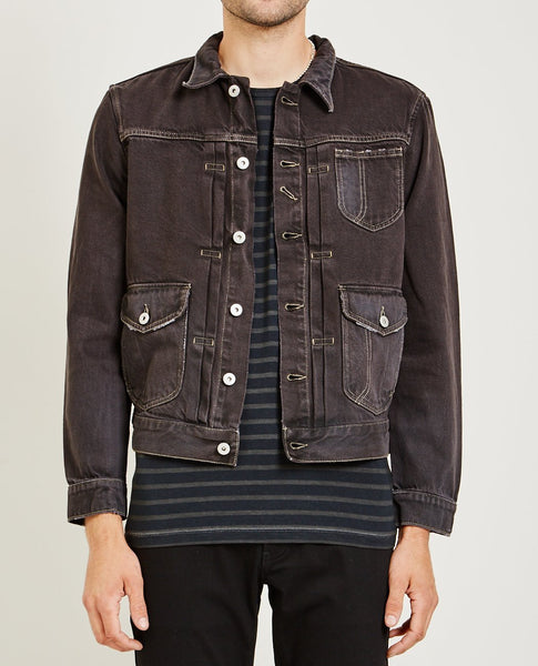 AR321 Bull Denim Jacket Charcoal
