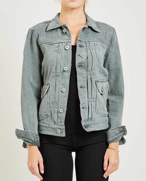 AR321 Bull Denim Jacket Medium Gray