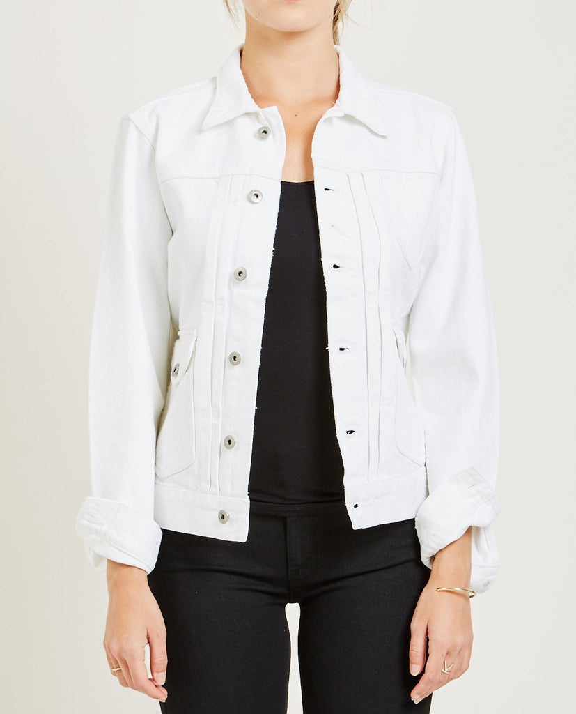 AR321-BULL DENIM JACKET OPTIC WHITE-Women Coats + Jackets-{option1]