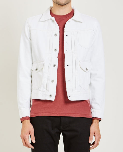AR321 Bull Denim Jacket Optic White