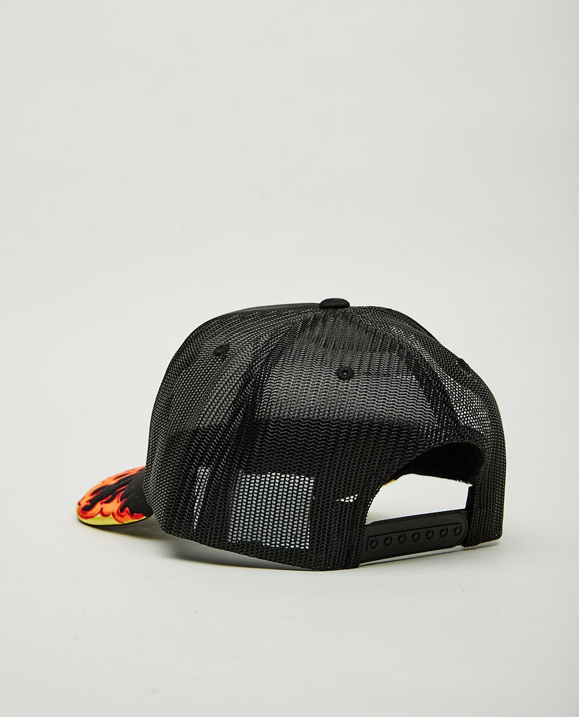 PLEASURES-BURN EMBROIDERED TRUCKER-Men Hats-{option1]