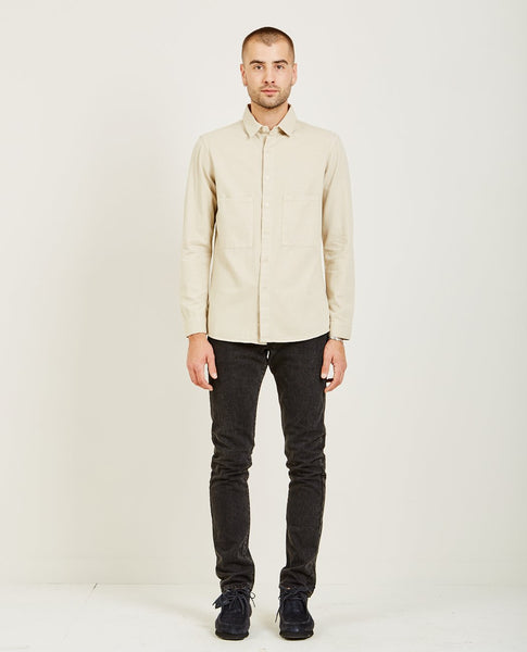 PROSPECTIVE FLOW BUTTON DOWN SHIRT NATURAL