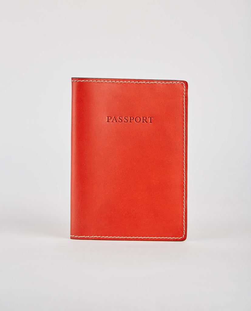 CALF LEATHER PASSPORT HOLDER-BOLDRINI-American Rag Cie