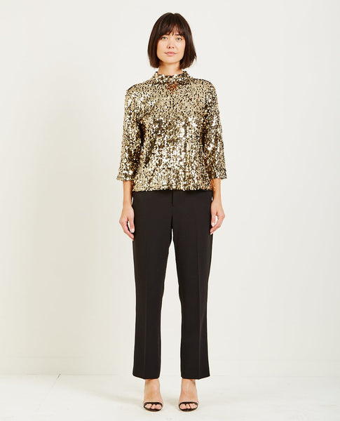 JUST FEMALE CALI SEQUIN TOP