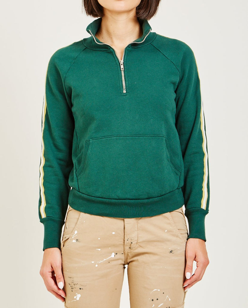 NSF-CAMILA HALF ZIP PULLOVER DEEP GREENER-Women Coats + Jackets-{option1]