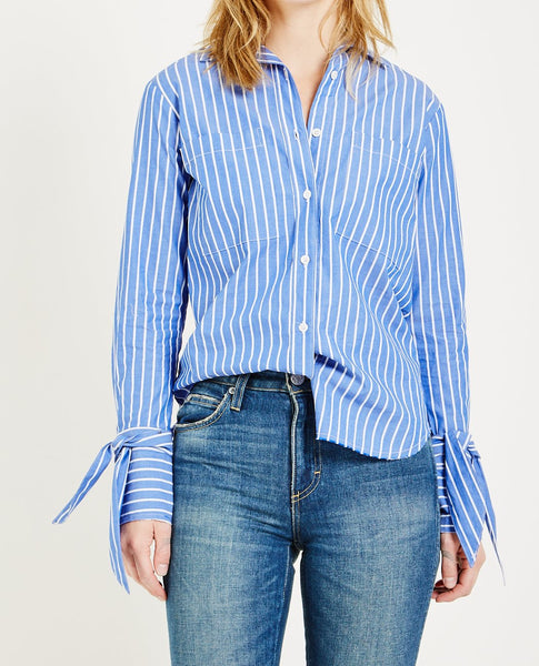ALSO CAMILLE TIESLEEVE STRIPE SHIRT