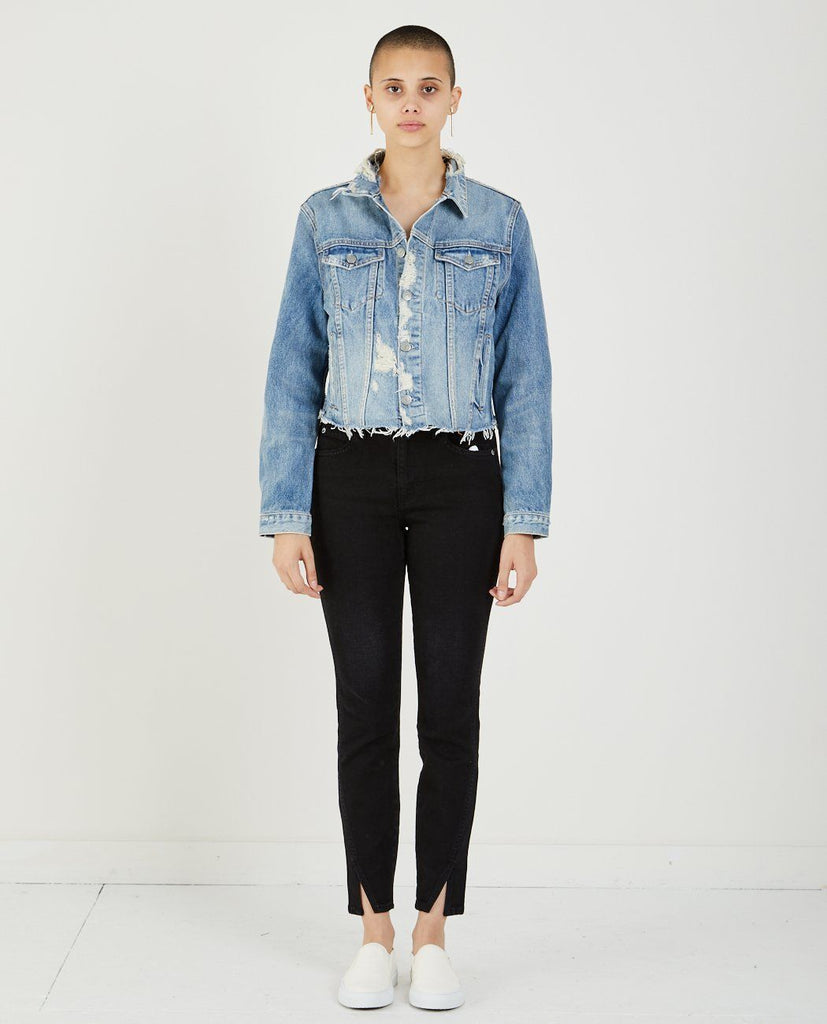 GRLFRND CARA CROPPED TRUCKER JACKET