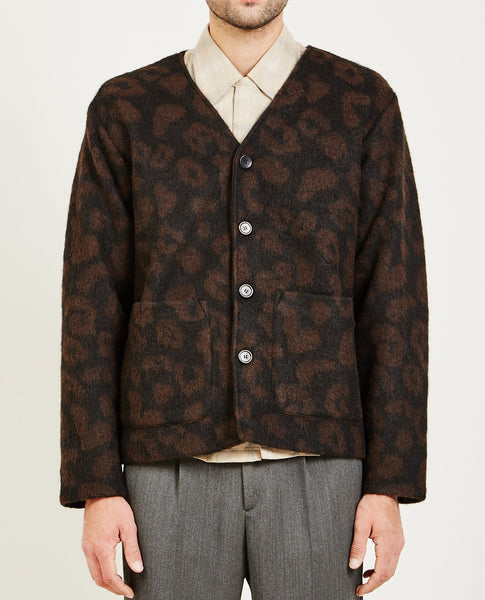 OUR LEGACY CARDIGAN LEOPARD