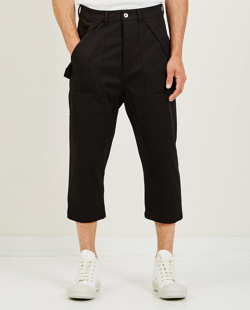 RICK OWENS DRKSHDW Cargo Collapse Cropped Pant