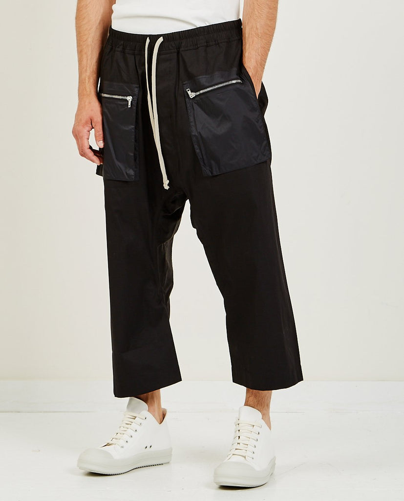 RICK OWENS DRKSHDW Cargo Drawstring Cropped Pant