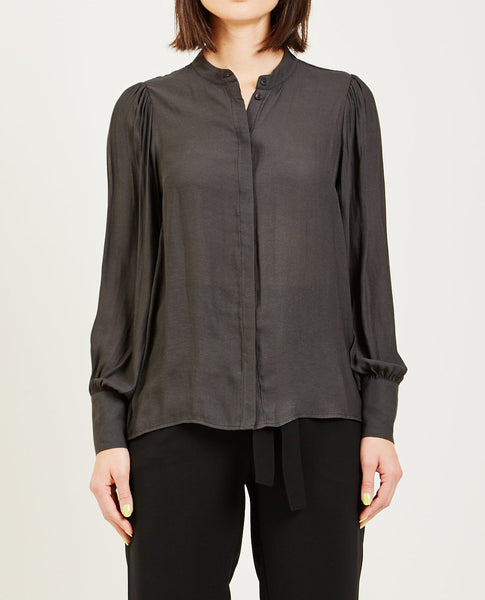 JUST FEMALE CAROLYN SHIRT BLACK