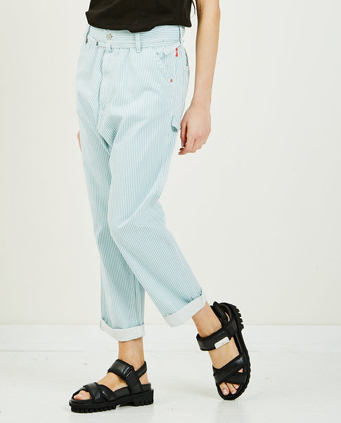 DENIMIST Carpenter Drop Pant Light Blue Stripe