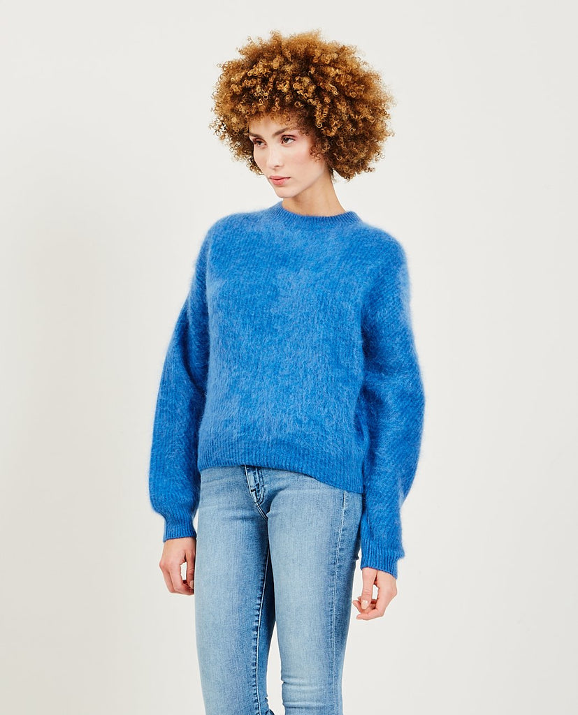 TRIAA-Cashmere Blushed Sweater Blue-Women Sweaters + Sweatshirts-{option1]