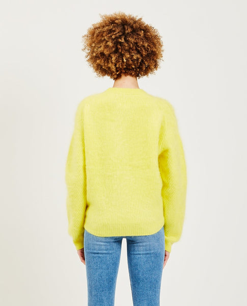 TRIAA Cashmere Blushed Sweater Yellow