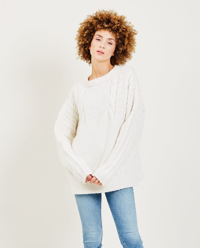 TRIAA-Cashmere Guernsey Sweater-Women Sweaters + Sweatshirts-{option1]
