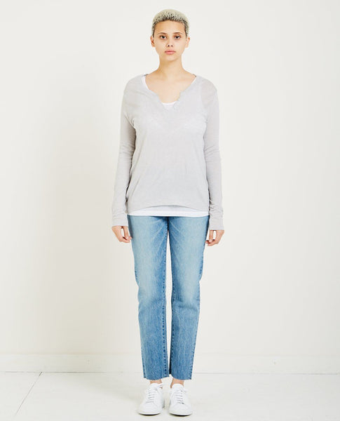 MAJESTIC FILATURES CASHMERE LAYERED HENLEY
