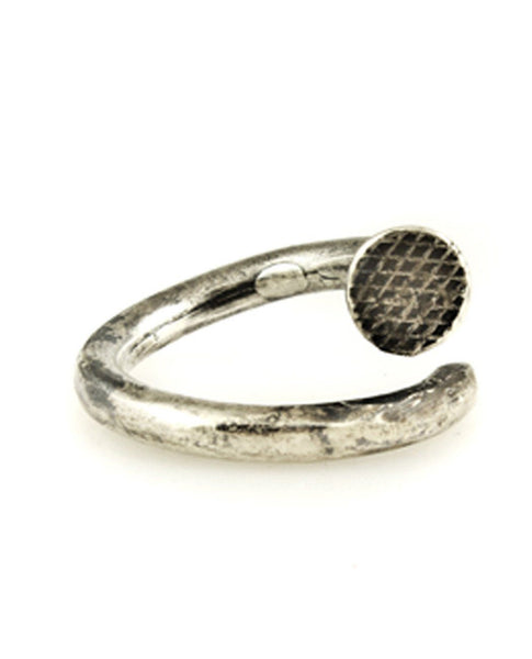 M. COHEN CASTED SILVER NAIL RING