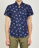 CATS CLOTH SHIRT NAVY-NAKED & FAMOUS-American Rag Cie