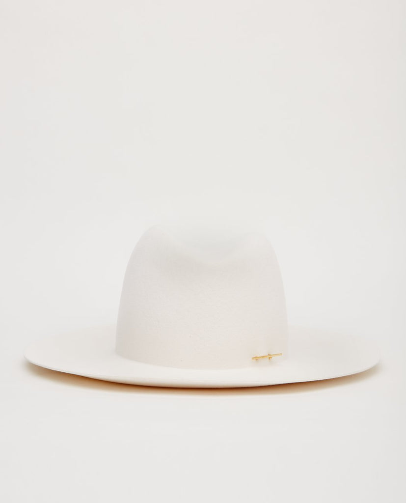 JANESSA LEONE CELESTE WOOL FEDORA WITH PIN