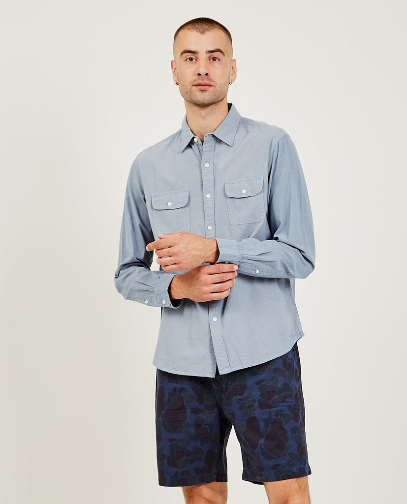 Chambray Double Pocket Shirt-ALEX MILL-American Rag Cie